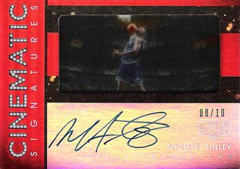 2015-16 Panini Gala Cinematic Signatures Crimson #18 Michael Finley