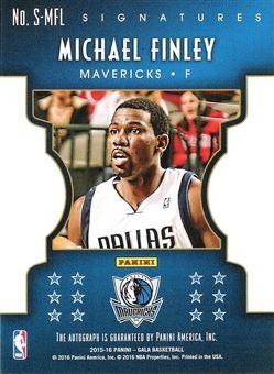 2015-16 Panini Gala Signatures #38 Michael Finley