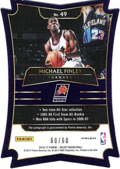 2016-17 Select Die-Cut Autographs Pulsar #49 Michael Finley
