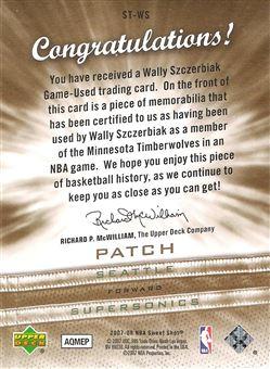 2007-08 Sweet Shot Sweet Stitches Patches #WS Wally Szczerbiak