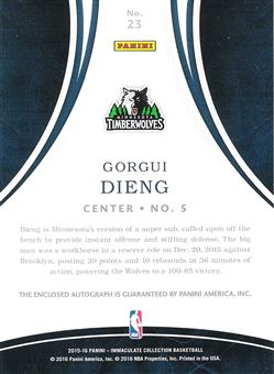 2015-16 Immaculate Collection Autographs #23 Gorgui Dieng