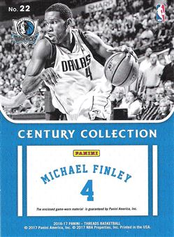 2016-17 Panini Threads Century Collection Materials #22 Michael Finley