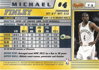 1996-97 Bowman's Best Refractors #73 Michael Finley