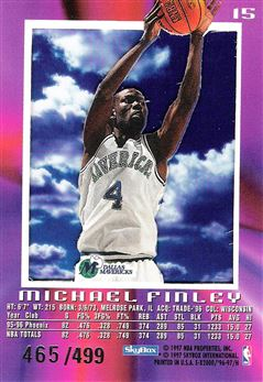 1996-97 E-X2000 Credentials #15 Michael Finley
