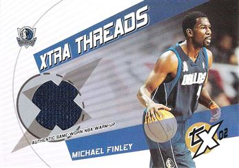2002-03 Topps Xpectations Xtra Threads Relics #XTMJ Michael Finley C