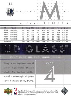 2002-03 UD Glass Beckett.com Samples #14 Michael Finley