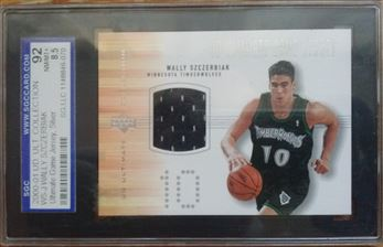 2000-01 Ultimate Collection Game Jerseys Silver #WSJ Wally Szczerbiak
