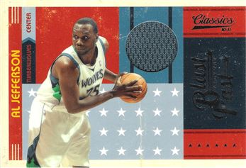 2010-11 Classics Blast From The Past Jerseys #2 Al Jefferson