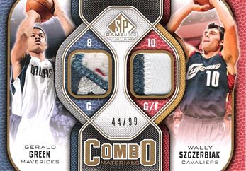 2009-10 SP Game Used Combo Patches #CPGS Gerald Green/Wally Szczerbiak