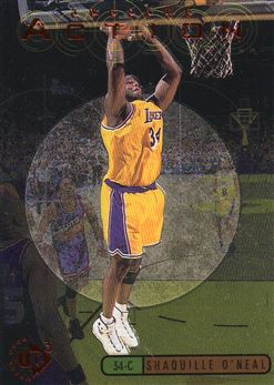 1997-98 UD3 Awesome Action #A15 Shaquille O'Neal