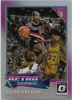 2017-18 Donruss Optic Retro Series Holo #18 Clyde Drexler