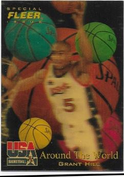 1996 Fleer USA #42 Grant Hill AW