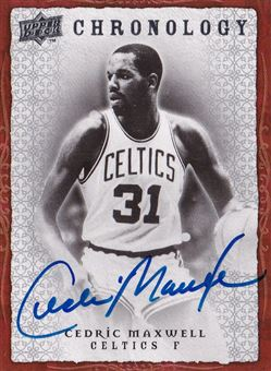 2007-08 Chronology Autographs Cedrick Maxwell