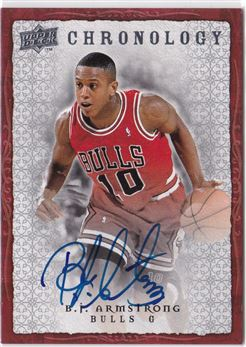2007-08 Chronology Autographs B. J. Armstrong