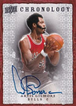 2007-08 Chronology Autographs Artis Gilmore