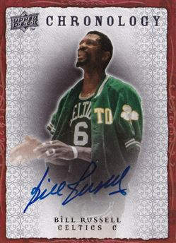 2007-08 Chronology Autographs Bill Russell