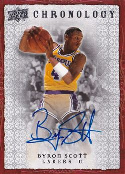 2007-08 Chronology Autographs Byron Scott