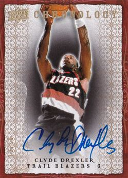 2007-08 Chronology Autographs Clyde Drexler /10