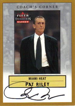 00-01 Fleer Glossy Coach's Corner Pat Riley