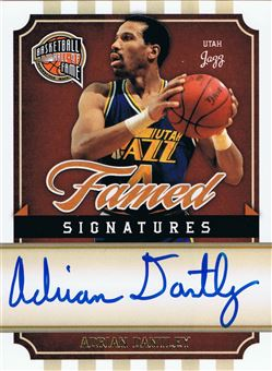 2009-10 Hall of Fame Famed Signatures #10 Adrian Dantley/499