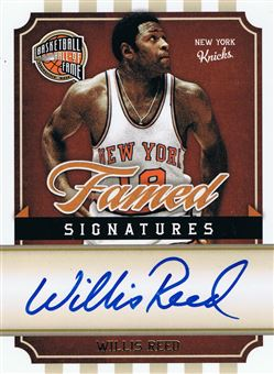2009-10 Hall of Fame Famed Signatures #39 Willis Reed/499