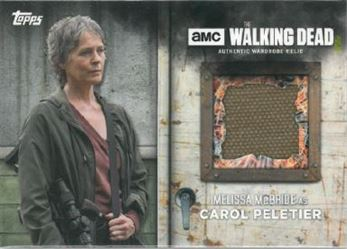 2017 Topps The Walking Dead Season 6 - Relics #MEMC Melissa McBride as Carol Peletier