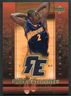 2003-04 Upper Deck Rookie Exclusives Jerseys J8 Mickael Pietrus $6.00