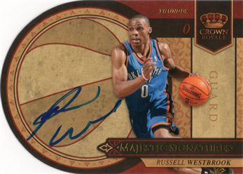 be718d3e3a993c 2009-10 Crown Royale Majestic Signatures RW Russell Westbrook