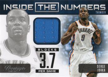2012-13 Prestige Inside the Numbers Materials 09 Serge Ibaka