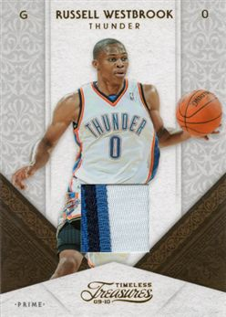 6e696a304bfee3 2009-10 Timeless Treasures Materials Jerseys Prime 49 Russell Westbrook