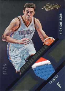 2012-13 Absolute Frequent Flyer Materials Prime 16 Nick Collison