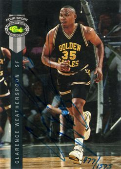 1992 Classic Four Sport Autographs #25A Clarence Weatherspoon