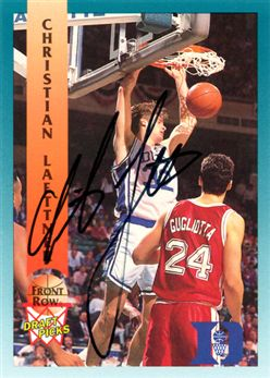 1992 Front Row Autographs 91 Christian Laettner
