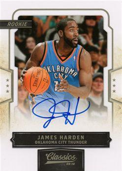 2009-10 Classics 163 James Harden RC AU