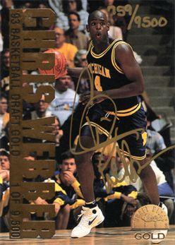 1993 Classic Gold #NNO Chris Webber AU