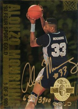 1993 Classic Four Sport Gold #AU3 Alonzo Mourning