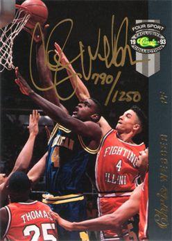 1993 Classic Four Sport McDonald's LPs #NNO Chris Webber AU
