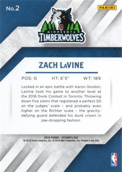 2016 Panini Father's Day Elements #2 Zach LaVine