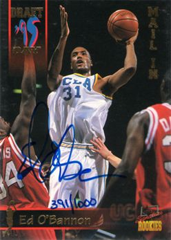 1995 Signature Rookies Draft Day Mail-In Signatures Promo1 Ed O'Bannon