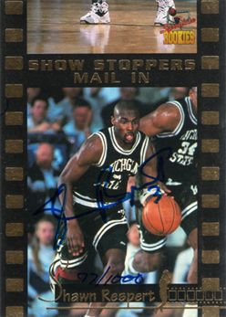 1995 Signature Rookies Draft Day Mail-In Signatures Promo3 Shawn Respert