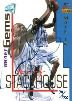 1995 Signature Rookies Draft Day Mail-In Signatures Promo4 Jerry Stackhouse