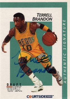 1991 Courtside Autographs 6 Terrell Brandon