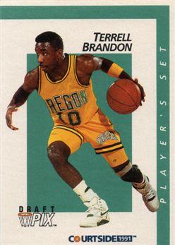 1991 Courtside Player Set 6 Terrell Brandon