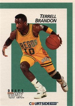 1991 Courtside Sample 6 Terrell Brandon