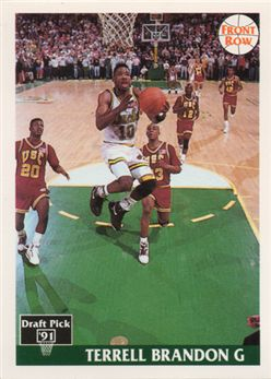 1991 Front Row 10 Terrell Brandon