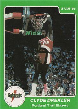 1985 Star Gatorade Slam Dunk #4 Clyde Drexler