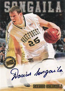 2002 Press Pass Autographs 29 Darius Songaila