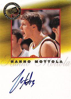2002 Press Pass Pro Autographs 08 Hanno Mottola