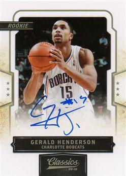 2009-10 Classics 170 Gerald Henderson RC AU