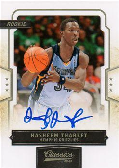 2009-10 Classics 162 Hasheem Thabeet RC AU